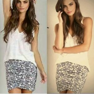 Free people essential scrunch mini skirt floral XS